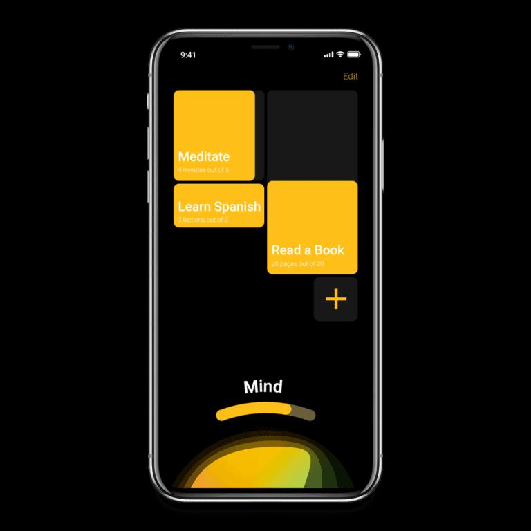 Habit Tracker App accountability group category screen
