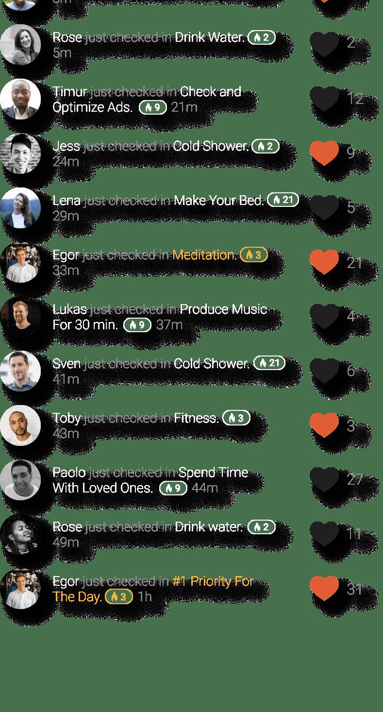 Activitie Stream Visualization